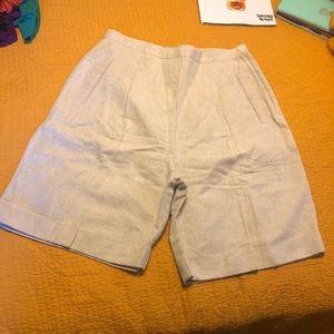 Gap Linen High-Waisted Shorts sz 14